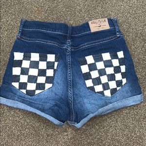 Checkered painted hollister shorts